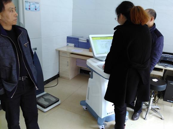 四川宣汉县新华镇中心卫生院儿童生长发育测试仪安装